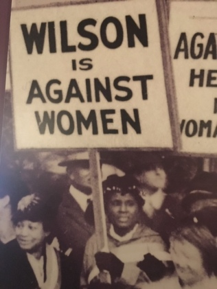 black women picket wilson