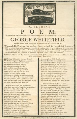"""""""A Poem: by Phillis, a Negro Girl, in Boston."""" New York Public Library"""